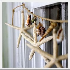 Natural starfish garland. Real white finger starfish and assorted natural sea shell accents, add a seaside style to your porch, bedroom, bath or accent the center of your dining table as a table runner. During the Christmas season, accent your mantel, tree or stairs.