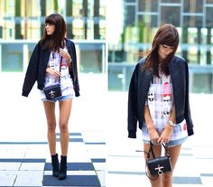 Bomber Jacket, Givenchy Bag, Acne Boots - Before the storm - Lucy De B.