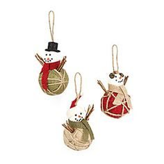 Woodland Wonder Burlap Snowman Ornaments, 3-Pack at Big Lots.