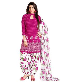 Dress : Faux Cotton (Cotton : 50% Polyster : 50%) || Dupatta : Faux Chiffon Top:2.5 metres,Bottom:2.25 metres,Dupatta:2.25 metres Wash Instruction : Dry Clean or Mild Hand Wash is Recommended