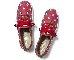 See Keds Shoes for women! Find canvas shoes and tennis shoes on the Official Keds Site. Choose colors and sizes as you browse our full collection of Keds women's shoes. Keds Sneakers, Keds Shoes, Canvas Sneakers, Red Trainers, Polka Dot Shoes, Keds Champion, Lace Up Shoes, Shoe Game, Footwear