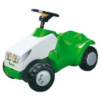 Viking children's push tractor with a sounding horn. Designed with the traditional Viking green and white colours.