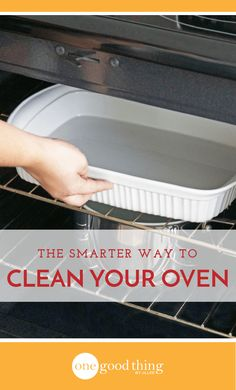 How To Clean Your Oven The Smarter And Easier Way - One Good Thing by JilleePinterestFacebookPinterestFacebookPrintFriendly Glass Cooktop, Tips, Cleaning, Advice, Counseling