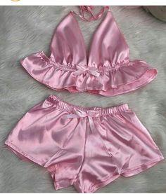 Cute Pajama Sets, Cute Pjs, Cute Pajamas, Cute Lingerie, Lingerie Outfits, Women Lingerie, Chic Outfits, Girl Outfits, Silk Pjs