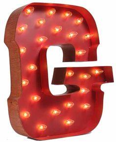 Lighted Carnival Letter G
