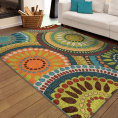 Found it at Wayfair - Thurman Blue/Yellow Area Rug