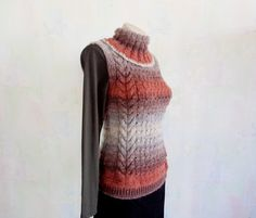Sleeveless Turtleneck Sweater Ladies by GuestFromThePast on Etsy