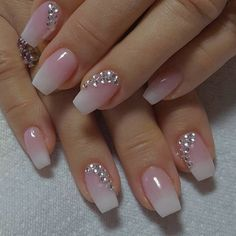 60 Wedding Nail Art for brides ideas - Designer nägel - Best Nail World Cute Acrylic Nails, Acrylic Nail Designs, Cute Nails, Pretty Nails, Nail Art Designs, My Nails, Pink Nails, Gradient Nails, Wedding Nails For Bride