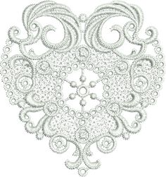 Sue Box Creations | Download Embroidery Designs | 10 - Lace Heart