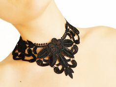 Lace Necklaces by EPUU on ETSY