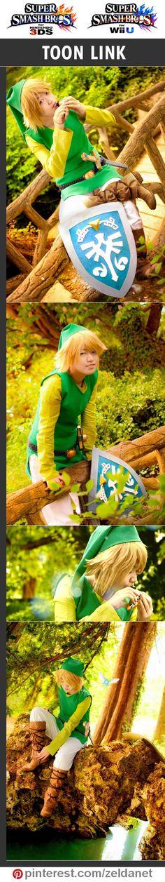 Toon Link by TOWN Cosplay in Super Smash Bros cosplay series | #Nintendo #3DS #WiiU Credits in original post at http://www.pinterest.com/zeldanet/super-smash-bros-cosplay-series/