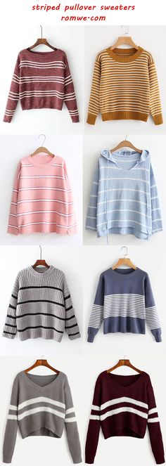 chic & cozy striped pullover sweaters - romwe.com