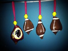 Redskins fans : 4 fighting conch hand painted ornaments Fighting Conch, Redskins Fans, Hand Painted Ornaments, Seashell Crafts, Man Cave, Shells, Arts And Crafts, Craft Ideas, Christmas Ornaments