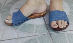 fa papucs farmer felsőrésszel Recycle Jeans, Recycled Denim, My Jeans, Farmer, Heeled Mules, Slip On, Sandals, Heels, Fashion