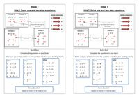Equations Ladder Activity (5 Levels Summary) - Resources - TES