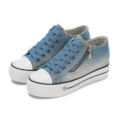 Fashion High Platform Denim Shoes for Women 2016 Breathable Thick Heel Canvas Shoes Women Casual Trainers #>=#>=#>=#>=#> Click on the pin to check out discount price, color, size, shipping, etc. Save and like it!