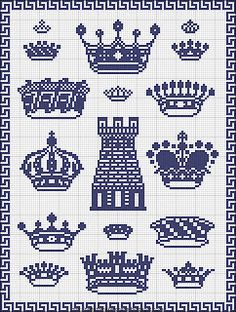 cross stitch crowns