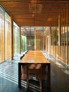 Could be interesting to use natural bamboo as a form of blind for a space with lot's of windows and natutral light.