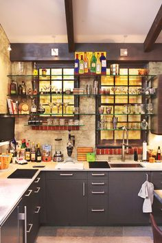 Eclectic kitchen. #color #cook: