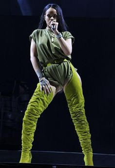 Rihanna performs during the Made in America Festival in Philadelphia on Sept. 3, 2016