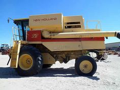 New Holland TR86 combine salvaged for used parts. This unit is available at All States Ag Parts in Bridgeport, NE. Call 877-530-5010 parts. Unit ID#: EQ-23988. The photo depicts the equipment in the condition it arrived at our salvage yard. Parts shown may or may not still be available. http://www.TractorPartsASAP.com