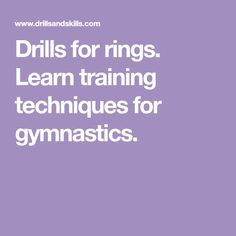 Drills for rings. Learn training techniques for gymnastics. Calisthenics Program, Press Handstand, Back Extensions, Muscle Up, Cross Trainer, Gymnastics, Drills, Learning
