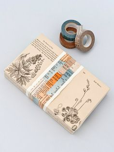 Book masking tape -- I made a rip tab for a child's present wrapped in the sports pages by using washi on the wrong side (inside) of the package . Washi Tape Uses, Masking Tape, Washi Tapes, Mt Tape, Paper Packaging, Pretty Packaging, Gift Packaging, Wrapping Gift, Wrapping Ideas