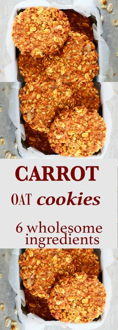 Gluten free oatmeal cookies | banana oatmeal cookies | vegan oatmeal cookies | flourless oatmeal cookies | Breakfast cookies | healthy cookies | gluten free cookies | dairy free cookies | vegan cookies | vegetarian cookies | clean eating cookies | carrot cookies | healthy carrot cookies | healthy oatmeal cookies