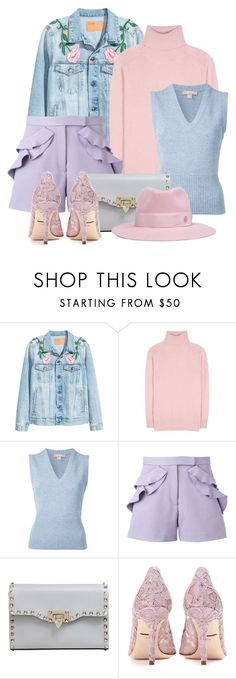 """""""Spring Pastels"""" by rgo1 ❤ liked on Polyvore featuring Tomas Maier, Michael Kors, Elie Saab, Valentino, Dolce&Gabbana and Maison Michel"""