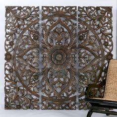 Balinese Art. Absolutely gorgeous!! This is what I want on my wall over my bed!! [I can't get the link to work, but I like the art and idea of it as a headboard.]