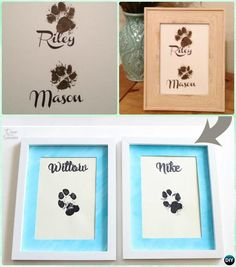 DIY Puppy Paw Print Wall Art Instruction-Paw Print #Craft Ideas Projects  #Dog