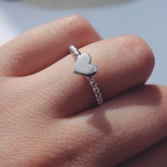 Handmade Sterling Silver Heart Ring by JasmineBowdenShop on Etsy