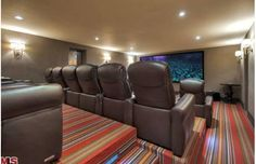 Hilary Swank's Home Theater