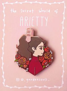 Arrietty - The Secret World of Arrietty Ghibli Hard Enamel Pin Secret World Of Arrietty, The Secret World, Bag Pins, Jacket Pins, Cool Pins, Hard Enamel Pin, Metal Pins, Pin And Patches, Stickers