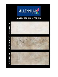 S_11024 - Millennium #Tiles 250x750mm (10x30) Digital Satin Large Format Wall #CeramicTiles  - S_11024_LT  - S_11024_HL1  - S_11024_DK  - Digital Tiles: Digital tiles will have a single coat of pigment nearly 1or 2 mm. It is not suitable for heavy traffic. As the name suggests, any design can be printed on this types of tiles or U can even customize the design of tile with your photo or any picture.