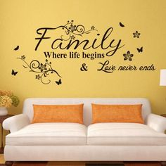 Family English Word Pattern Home Appliances Decoration Wall Sticker-4.57 and Free Shipping| GearBest.com