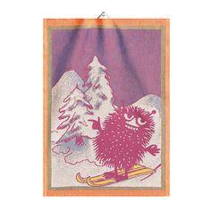 Ekelund Moomin Stinky Skiing Tea Towel  $17.00