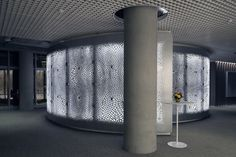 Gallery of Big Data Becomes Architecture in This CNC-Milled Screen Wall for IBM - 4