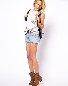 ASOS Vest with Embroidered Flowers £22