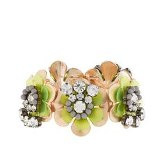 Neon flower bracelet - jewelry - Women's new arrivals - J.Crew -  great piece to dress up a wardrobe with lots of grey