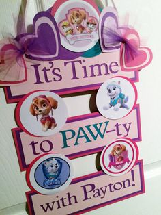 Paw Patrol Inspired Birthday Party Door Banner by FiggiDoodles