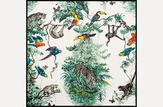 Equateur Wallpaper designed by Robert Dallet in Zenith Available at Hermès stores nationwide; for information: 1.800.441.4488