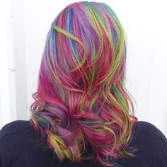 Early morning rainbow  #houseofcolor #colorado #denver #coloradosprings #coloradosalon #coloradospringssalon #coloradohairstylist #coloradospringshairstylist #modernsalon #americansalon #behindthechair #hotonbeauty #hair #hairstylist #hairinspiration #hairgoals #licensedtocreate #btconeshot_color16 #btconeshot_hairpaint16 #btconeshot_rainbow16 #rainbowhair #mermaidhair #unicornhair #vividhair #balayage #colorful