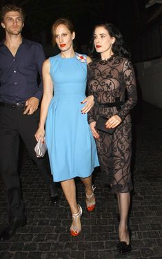 Dita Von Teese and friends leaving the Chateau Marmont in West Hollywood. June 2012
