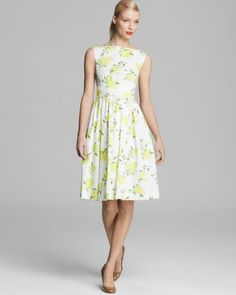 kate spade lemon print dress | Kate Spade Lyric Dress in Yellow (Lemon Yellow Combo)
