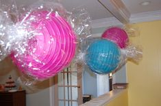 Candy Party- love the paper lantern wrapped candy decor.