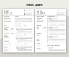 Modern Resume Template, Creative Resume Templates, Cv Simple, Job Cv, One Page Resume, Resume Builder, Resume Skills, Creative Jobs, Resume Format