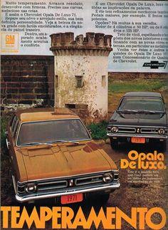 PROPAGANDAS NACIONAIS Opala 1971