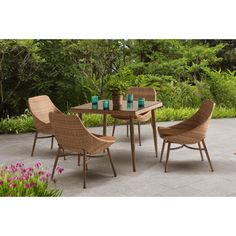 Found it at AllModern - Century 5 Piece Dining Set with Cushions