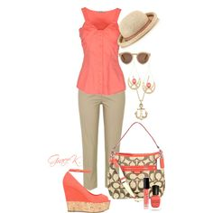 """Coral Summer"" by gracekathryn on Polyvore"